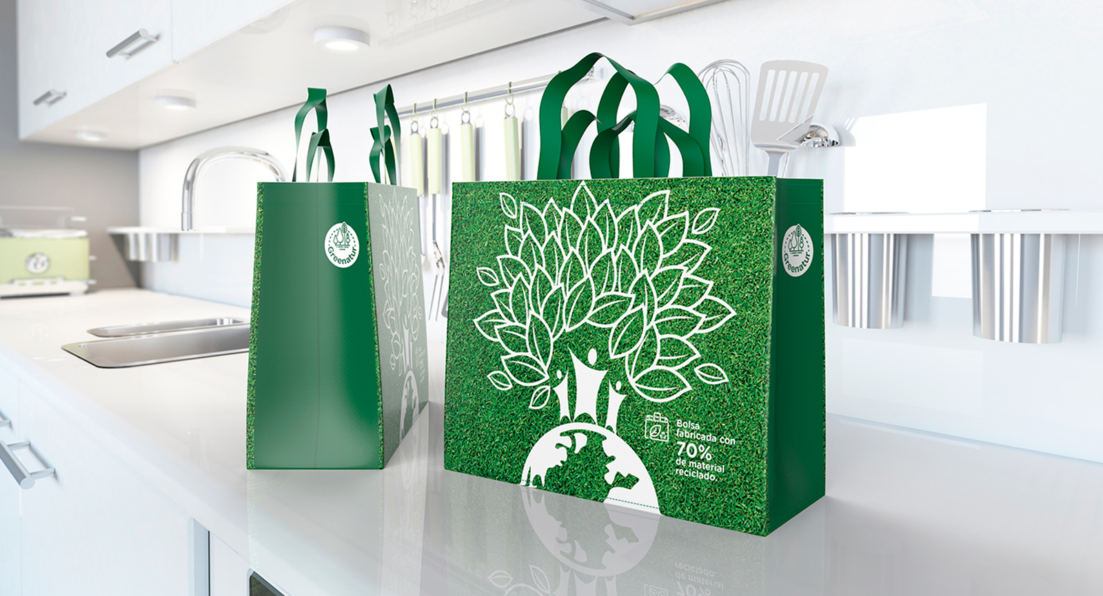 Bolsa de Rafia Green Bag